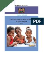 Kenya National Oral Halth_ s