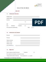 Formulario Solicitud de Beca - PROBECA