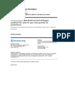 AUGUSTO, Amélia. Metodologias Quantitativas, Metodologias Qualitativas_mais Do Que Uma Questão de Preferência