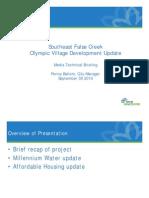 Southeast False Creek Olympic Village Development Update