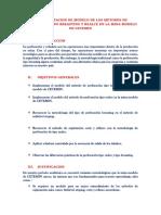 Implementacion Del Modelo Del Metodo de Perforacion Tipo Breasting en La Mina Modelo de Cetemin