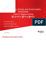 Topic 8 Report Writing Topic 9 Ethics, Standards and Prof Liability