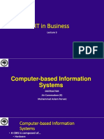 IT in B-3 Computer Based Information Systen