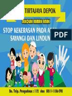Banner Sekolah Ramah Anak 3x2