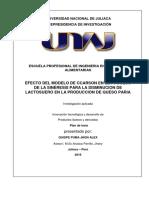 Plan de Tesis - lactosuero sineresis