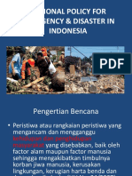 National Policy for Emergency & Disaster In