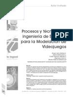 Procesos y técnicas de ingeniería de Software para la Modelación de Videojuegos