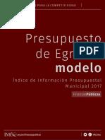 2017 IIPM Presupuesto Modelo
