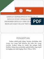 Seminar Post Op ORIF Fraktur Humerus