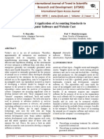 An Analysis of Application of Accounting Standards to Computer Software and Website Cost