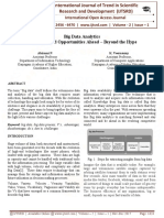 """Big Data Analytics Challenges and Opportunities Ahead '"""" Beyond the Hype"""