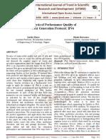 Analysis of Performance Quality of Next Generation Protocol