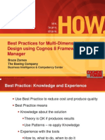 Best Practices for Multi-Dimensional Design Using Cognos 8 Framework Manager