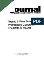 Testing 7 wire strand Prestressed concrete