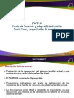 FACES III Escala de Cohesión y Adaptabilidad Familiar