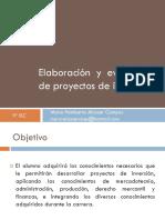 1. Proyectos de Inversión