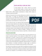 Biografia de Félix Lope de Vega