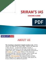 Best IAS Coaching in Delhi Sriram's IAS