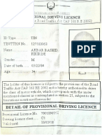 Driving Licence Provisional