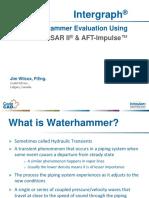 water hammer effect- caesar II case study