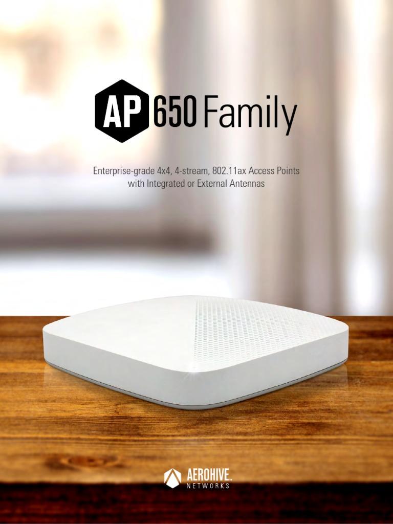 Aerohive Datasheet AP650 Family | Wi Fi | Ieee 802.11