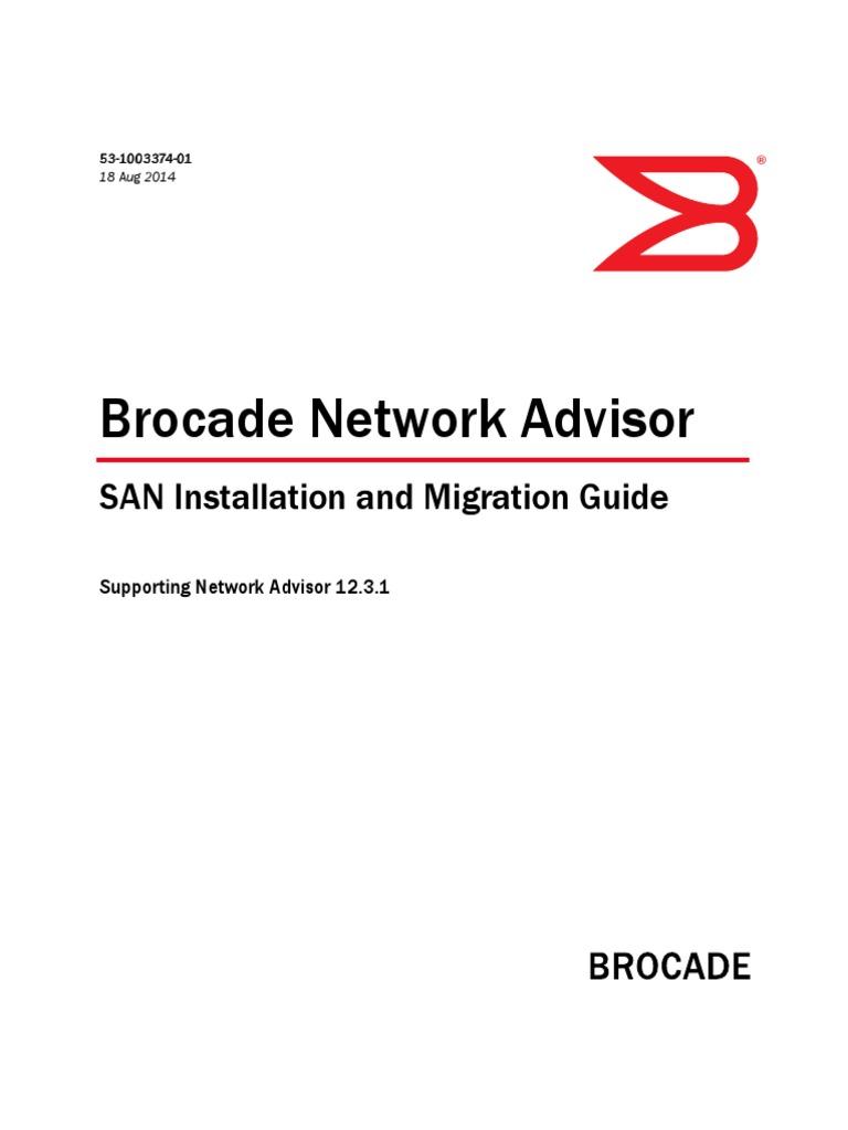 Brocade Network Advisor San Installation and Guide | 64 Bit Computing |  Operating System