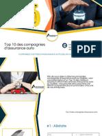 Top 10 Compagnies d'Assurance Auto au Québec
