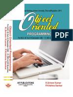 Object Oriented Programming for R-2017  by K. Sriram kumar, P.Krishna Sankar