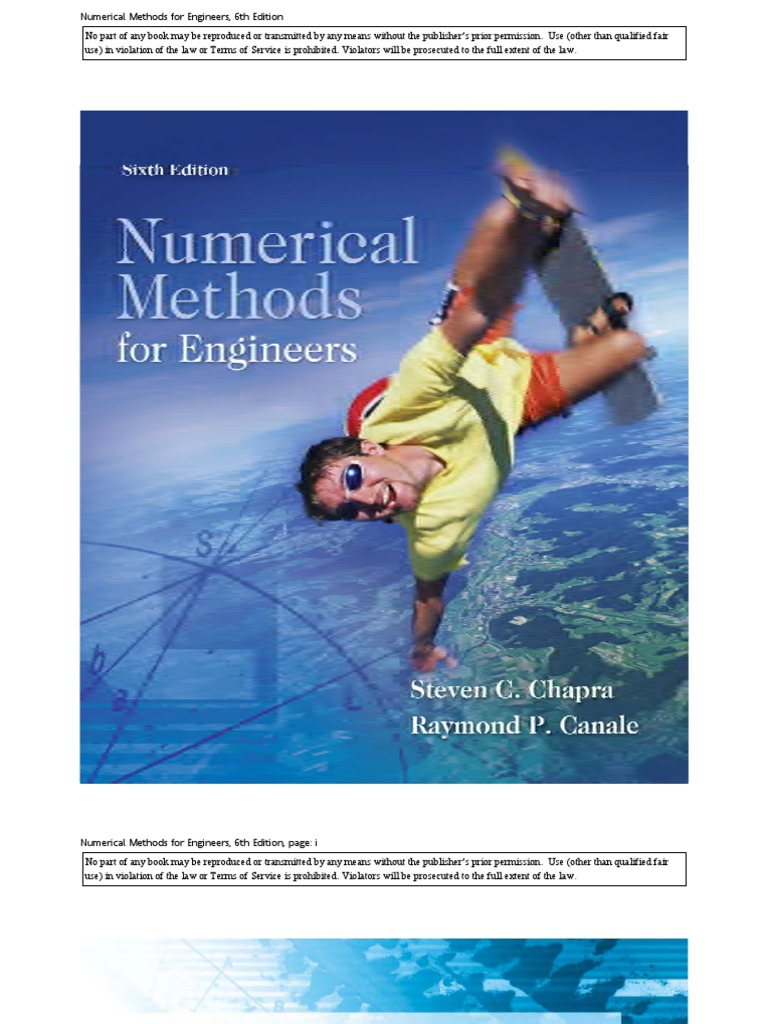 numerical methods 6th chapra fair use justice rh scribd com numerical methods for engineers 6th edition chapra solution manual pdf Numerical Methods with Matlab Solutions