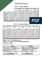 Calendar an Scolar 2013 2014