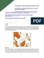 Đường Chữ U Của Trung Quốc ở Biển Đông