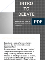 Intro to Debate Ppt