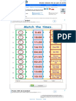 Match the Times - Interactive Worksheet