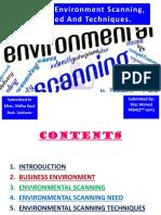 businessenvironmentscanningitsneedandtechniquesmbabyriaz-140308032145-phpapp01