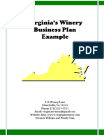 Virginia's Winery Business Plan (May 14, 2009)