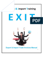 EXIT Export Import Trade Invoices Manual