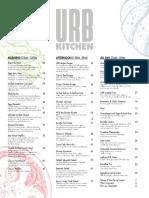 Urban Kitchen Menu