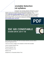 SSC GD Constable Selection Process and Syllabus