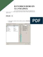 Agregar Un Disco Duro en Caliente a Vm Linux