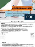 PROVA - Concurso SEDUC Ciclo 20 Horas SEDUC/Am