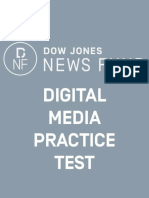 2018 Digital Test Answer Key