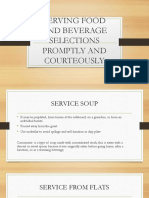 Serving Food and Beverage Selections Promptly and Courteously