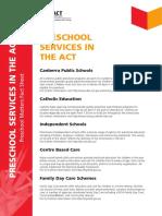 Preschool Services