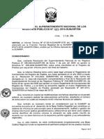 RESOLUCIÓN N° 189-2014-SN