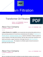 Transformer Oil Filtration Services in India