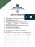 Relatório de Atividades (2009)