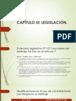 Diapositivas sobre la ley 1070 que rige el arbitraje ad hoc