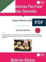 Guia de Materiais para fazer biscoitos decorados