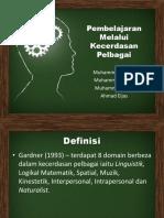 Pembelajaran Melalui Kecerdasan Pelbagai