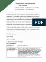 Estructura Del Proyecto de Aprendizaje Grupo 1